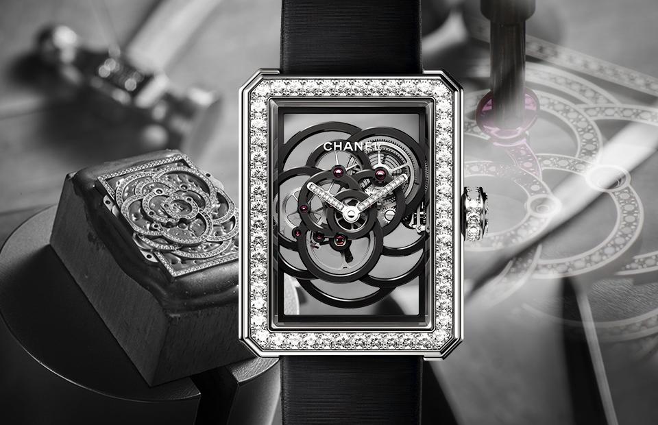 Chanel выпустила наручные женские часы в форме лепестков камелии