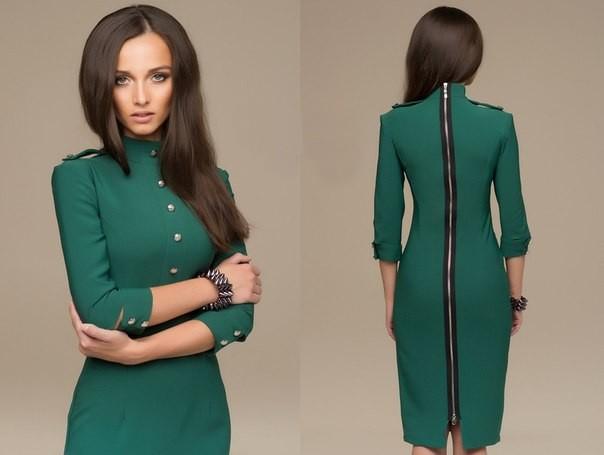 Зеленое платье, какое выбрать